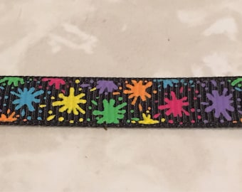 "1"" Confetti Splatter Dog Collar"