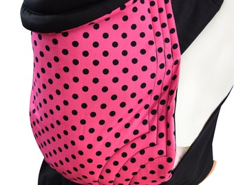 16332d0a833 Mei Tai Baby Sling Polka Dots Pink