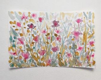 "Original Watercolor - ""Undergrowth Iris"""