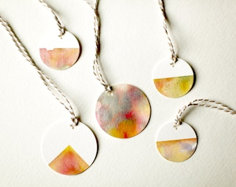 Painted Gift Tags - Geology