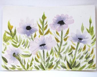 """Original Watercolor - """"Black-Hearted Cosmos"""""""