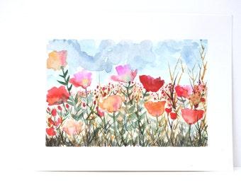 """Original Watercolor - """"Peak Spring"""""""