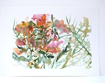 """Original Watercolor - """"Welcome to the Jungle"""""""