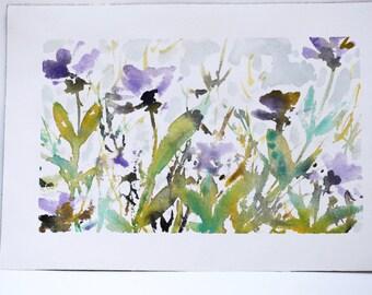 """Original Watercolor - """"Irises"""""""