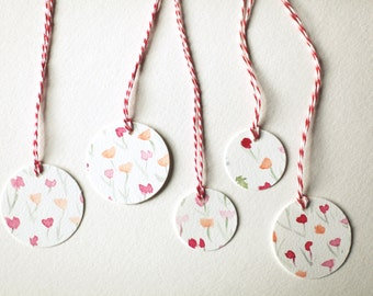 Painted Gift Tags - Dixie Print
