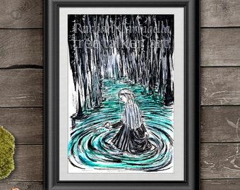 The River Lethe Candle Tin Pillar Cinnamon Crystal Marine Amber Scent Blue Black