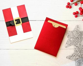 Santa Claus Suit Gift Card Holder SVG Design