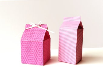 Template Box Shaker Box Clear Tall Candy Bar Box Favor Box SVG Does not include image design