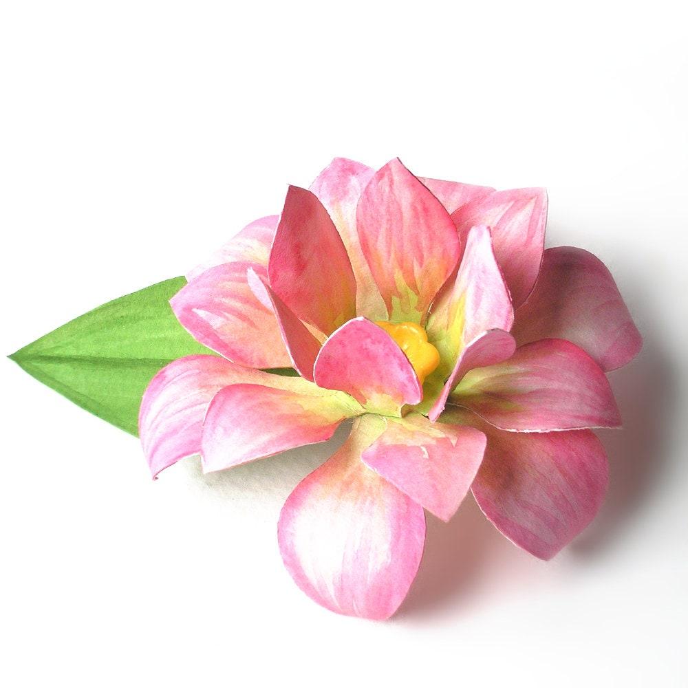 3d Paper Lotus Flower Svg Design Etsy