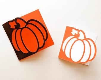 Pumpkin Papercut Card SVG Design