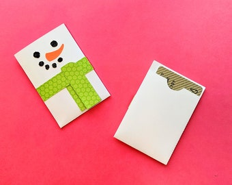 Snowman Gift Card Holder SVG Design