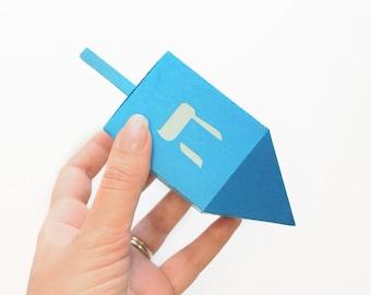 Hanukkah Dreidel Gift Box SVG Design