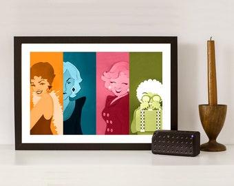 Golden Girls Inspired Pop Art Print