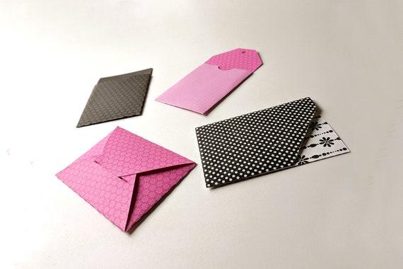 Paper Gift Card Holder Set Svg Pdf Design Etsy