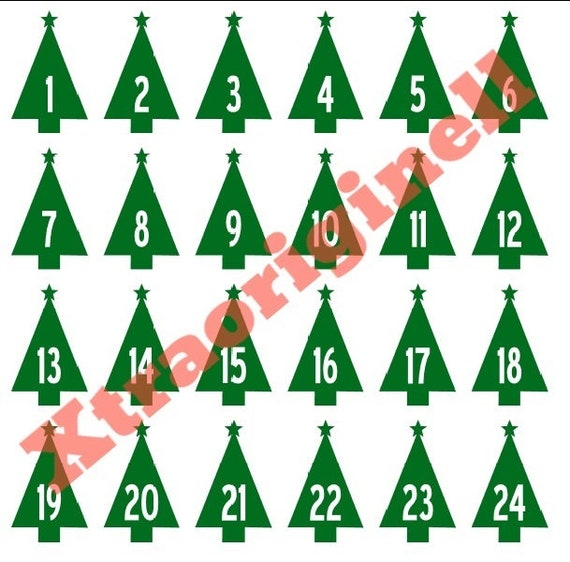 Glitter Ironing Picture Advent Calendar