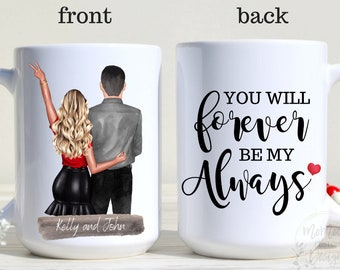 Valentine'S Day Mug, Valentines Day Gift, Gift For Her For Him, Custom Couple Mug, Anniversary Gift, Bride And Groom Mug, Wife And Husband