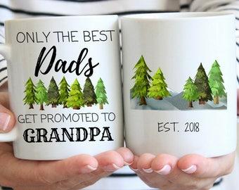 only the best dads get promoted to grandpa mug new grandpa gift pregnancy announcement mug grandpa to be mug pregnancy reveal mug
