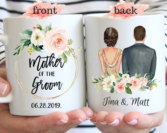 Mother Of The Groom Coffee Mug, Mother Wedding Gifts, Wedding Gift For Mother Mugs, Thank You For Raising The Man, Mother In Law Birthday