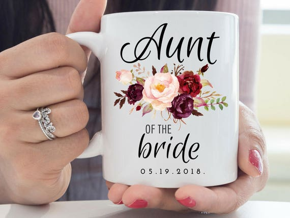 Custom Aunt of the Bride mug personalized Aunt of the Bride gift