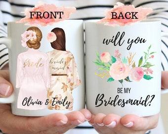 Bridesmaid Proposal Mug Will You Be My Bridesmaid Mug Proposal for Bridesmaid Bridesmaid Gift Personalized Bridesmaid Maid of Honor Proposal