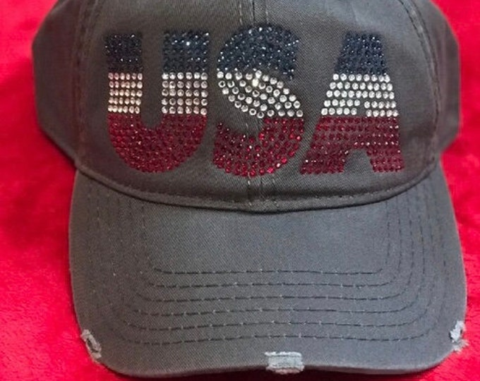 Patriotic Gray Baseball Cap