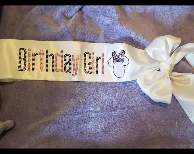 Girls Birthday Sash