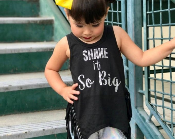 Shake It So Big Dance Tank, Fringe Dance Tank, Rhinestone Dance Tank