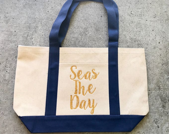 Seas The Day Tote, Rhinestone Tote, Seas The Day
