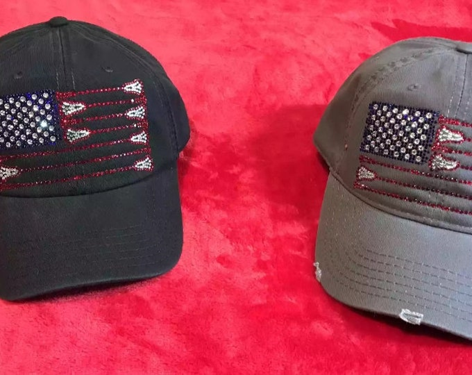 Lacrosse Sticks Flag Hats