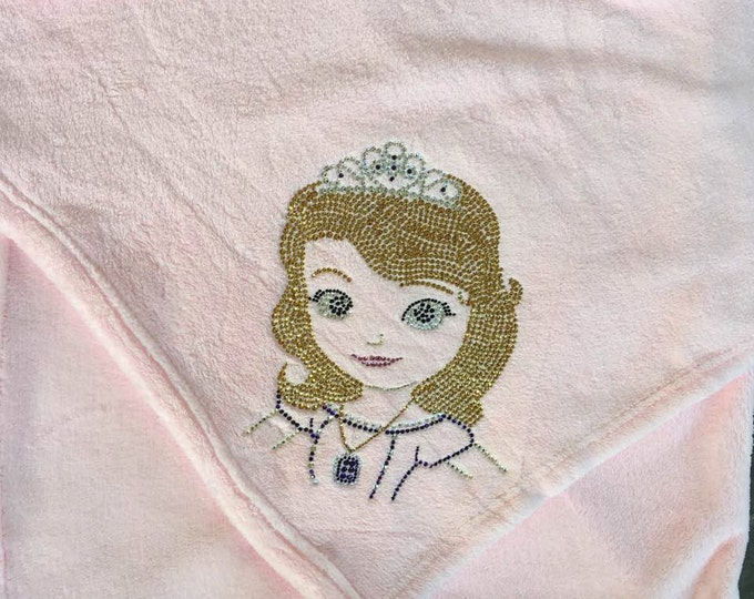 Sophia The First Blanket, Sophia The First, Princess Blanket, Rhinestone Blanket, Disney Blanket, Disney
