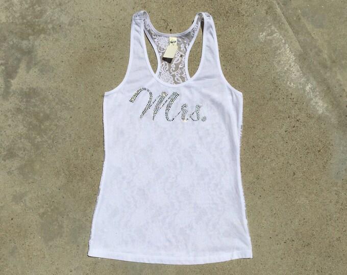 Mrs tank, wifey tank, bride tank, bride shirt