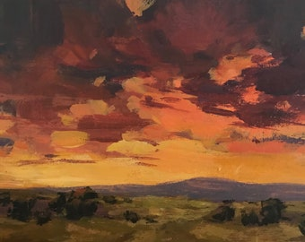 Summer Lull - 5x7 inches - ORIGINAL Landscape Painting