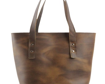 91eb183ddbe5 Lexington Classic Leather Tote in Chestnut Excel Leather - Medium