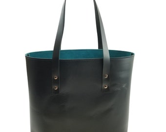 c184b2d8672 Lexington Classic Leather Tote in Black Excel Leather / Lined with Suede -  Medium