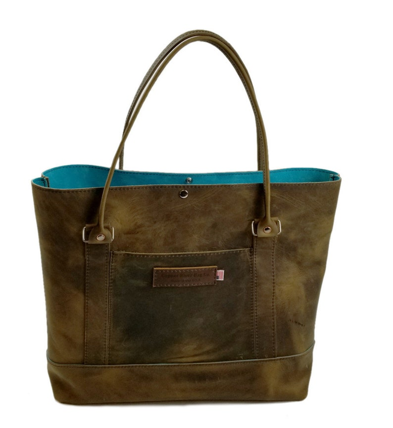 newest cbb3e 82e36 Westfield Tote Bag - Distressed Oil Tanned Leather / Suede Lined - Large