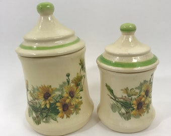 Vintage Ceramic Kitchen Canisters | Ceramic Kitchen Canisters Etsy
