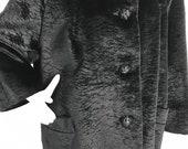 Vintage Faux Fur Coat Faux Persian Lamb Hip Length Coat 1950 39 s Persian Lamb 1960s Swing Faux Fur Car Coat Vegan