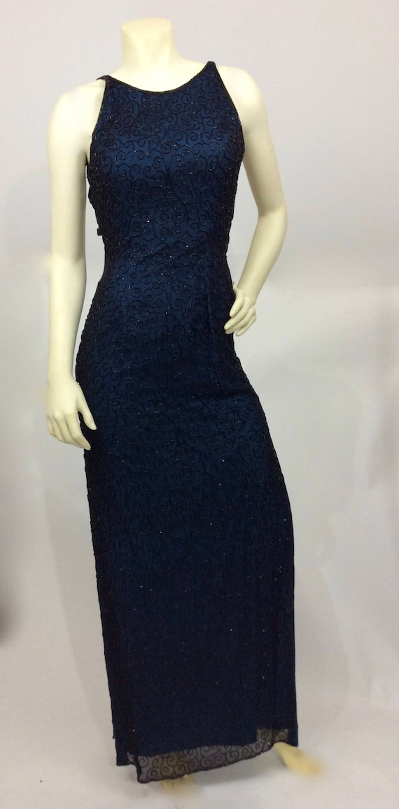 Vintage Andretta Donatello Beaded Gown/Beaded Bac… - image 6