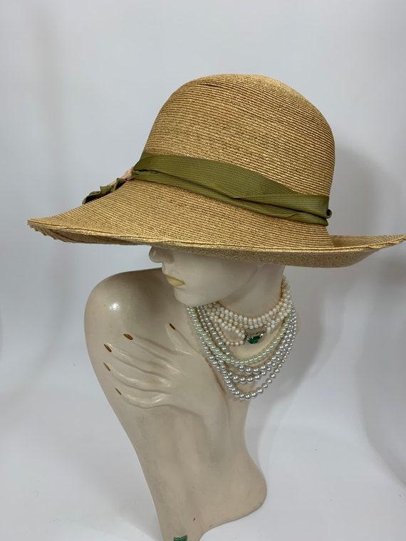 Vintage Grevi Firenze Straw Hat/Spring Straw Hat/… - image 7