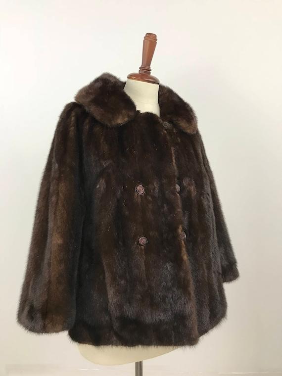 Vintage Mink Coat/Short Mink Coat/Cropped Mink Coa