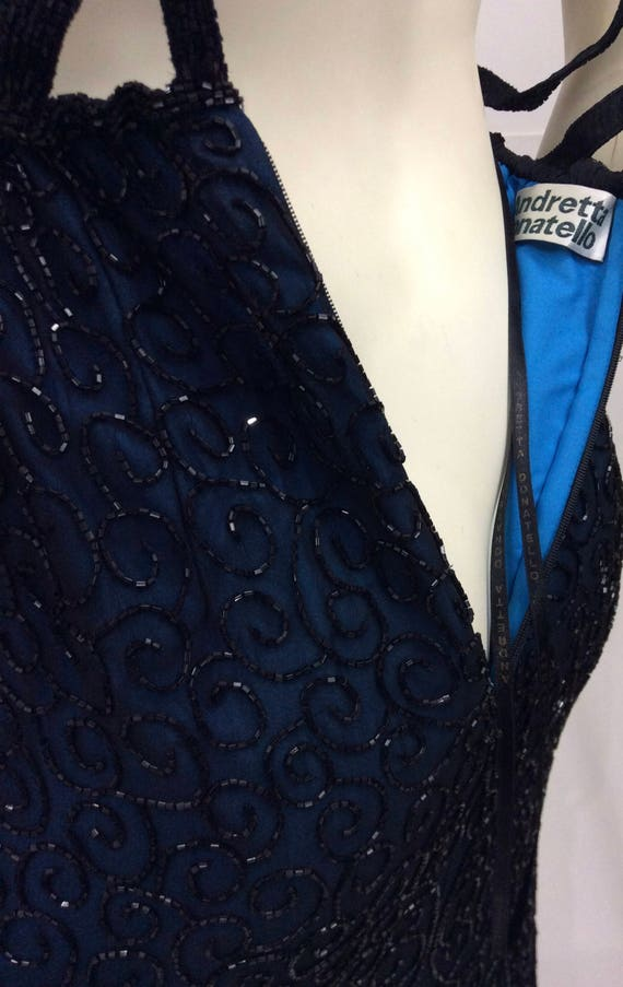 Vintage Andretta Donatello Beaded Gown/Beaded Bac… - image 9