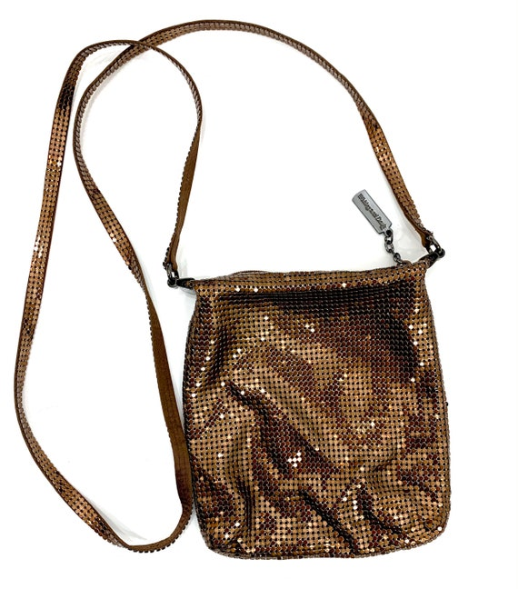 Vintage Whiting and Davis Copper Mesh Cross body B