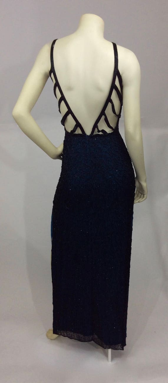 Vintage Andretta Donatello Beaded Gown/Beaded Bac… - image 5