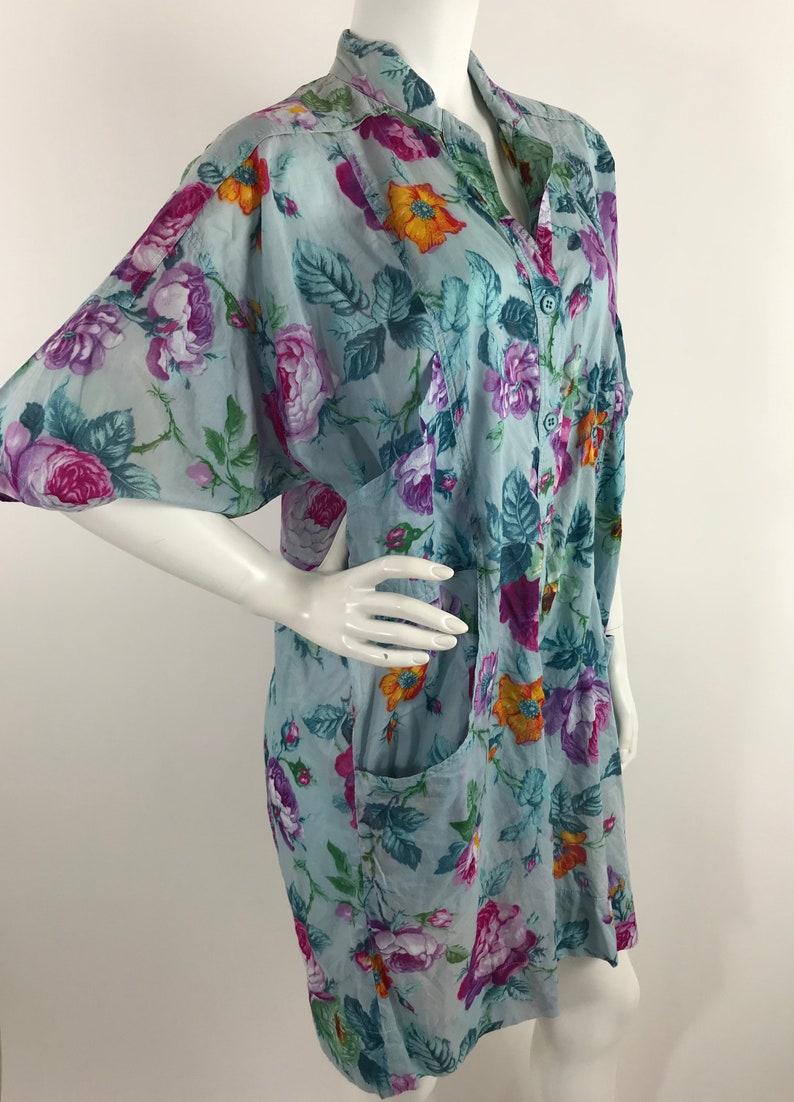 Vintage Gottex Cotton Romper1970s Floral Print One Piece Playsuit Jumper80s Cotton Beach RomperGottex Resort Wear Shorts Set