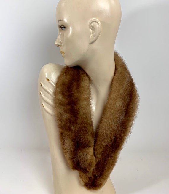 Light Brown Mink Fur Collar/Mink Collar/Mink Neck