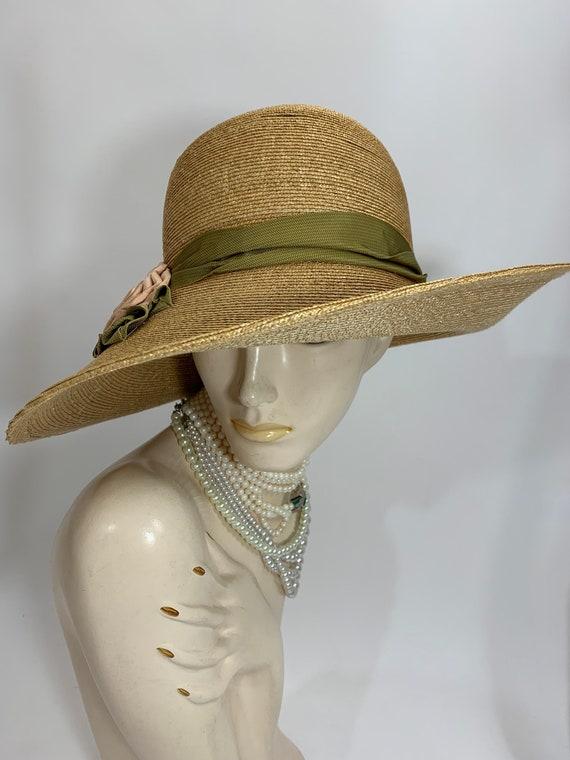 Vintage Grevi Firenze Straw Hat/Spring Straw Hat/… - image 3