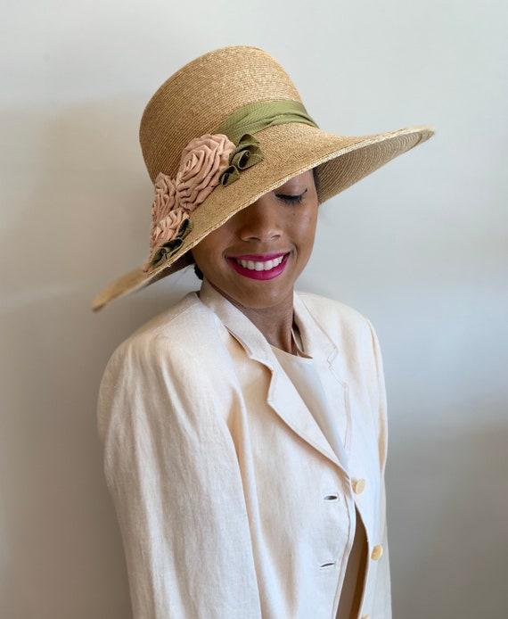 Vintage Grevi Firenze Straw Hat/Spring Straw Hat/… - image 2