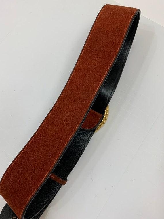 Vintage 1970's Rust Suede Gucci Belt Vintage Desi… - image 6