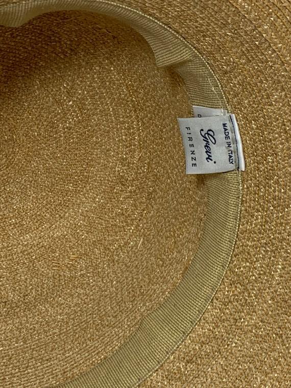 Vintage Grevi Firenze Straw Hat/Spring Straw Hat/… - image 9