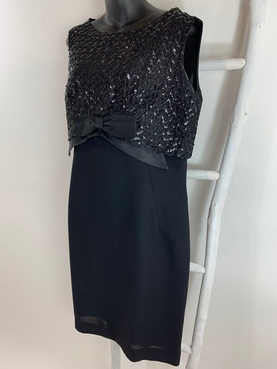 Vintage 1950s 60's Cocktail Dress/Sequin Sheath Pa